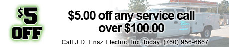 $5.00 off any service call over $100.00